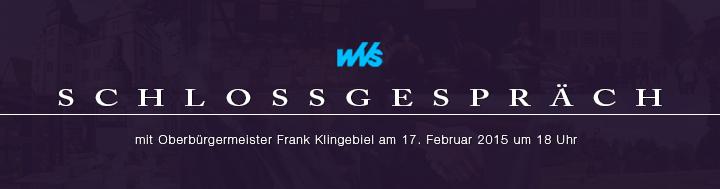 WVS Schlossgespräch mit Frank Klingebiel am 17.02.2015 um 18 Uhr